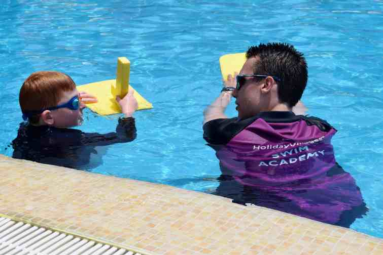 Private swimming tuition at Holiday Village Tenerife
