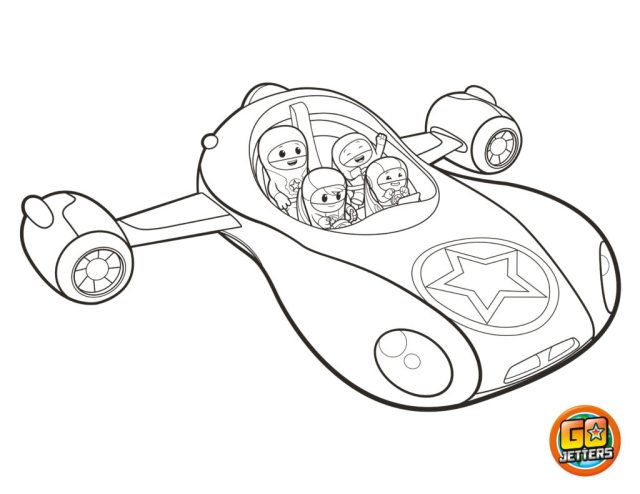 Vroomster Colouring Sheet  Go Jetters Official Website