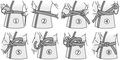 Comment nouer sa ceinture de karaté