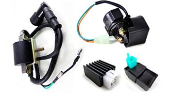 GOOFIT 3 Pin Ignition Coil Plug for GY6 4 Stroke 50cc 125cc 150cc