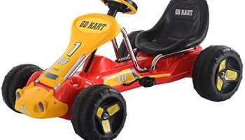 Kids Ride On Pedal Powered 4 Wheels Bike Go Kart Racer Car Outdoor