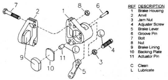 Bicycle Brake Caliper Parts