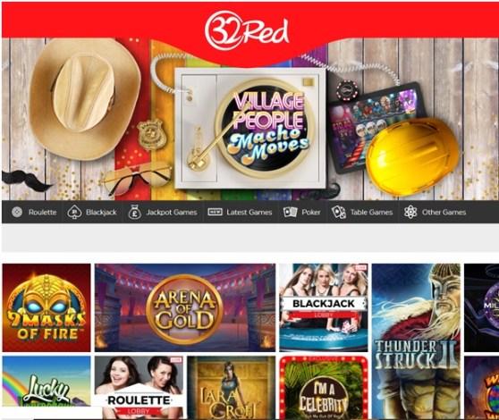 32Red is een online casino dat uitstekende slots biedt om te spelen