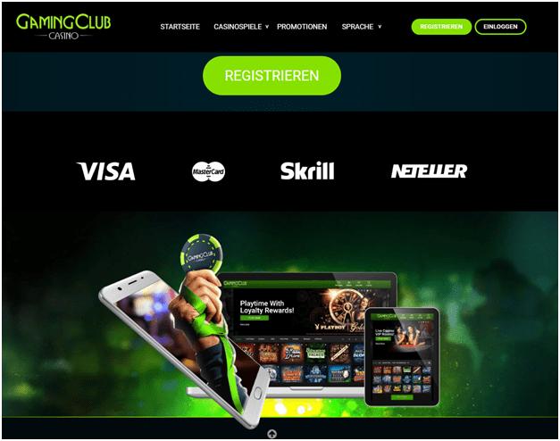 Deposito's en intrekking Gaming CLub