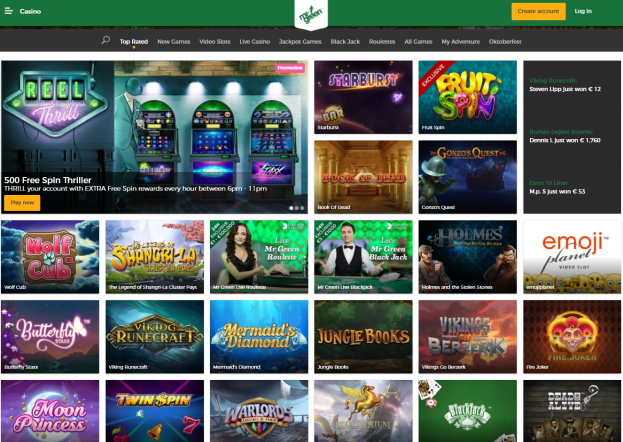 Mr Green Casino- Games to play