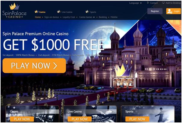 Spin palace casino spellen