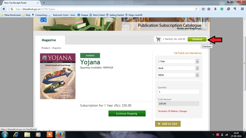 How to Subscribe for Yojana - Step 3