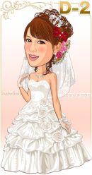 結婚式ウェディングドレスD-2-プリンセスライン