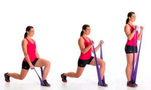 Example resistance band warm up for lower body (image by Inventive Step)