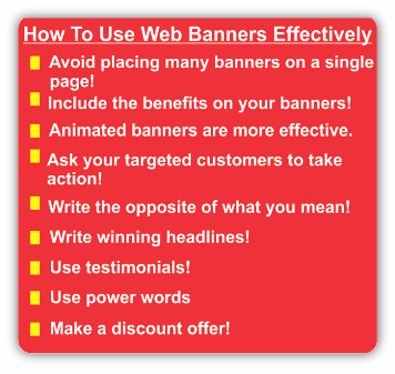 effective website banners