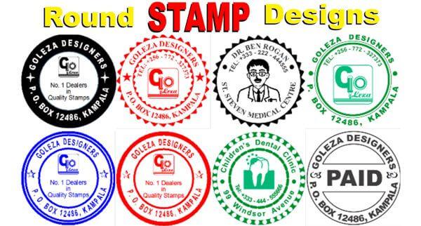 round stamp designs