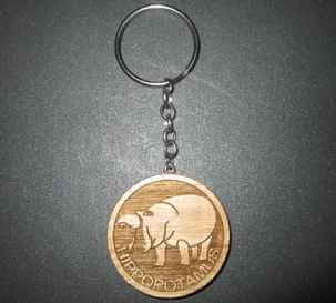 Hippopotamus Engraved Key Chain Looks Great On Your Keys