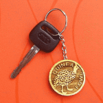 guinea fowl key chain