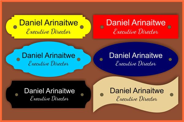 Engraved Nameplates – Discover Quality Nameplate Makers In Uganda!