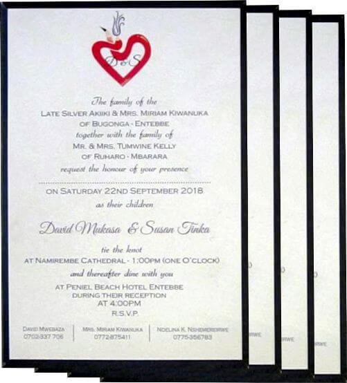 Wedding Invitation Panel Cards