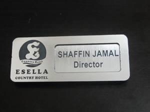Silver Reusable Name Card