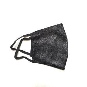 Zaščitna maska – črna bleščice