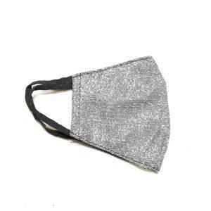 Zaščitna maska – srebrna bleščice