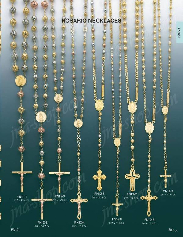 14k Gold Rosary Necklace 26 Fn12-3 - 1 695.00 Jewelry &