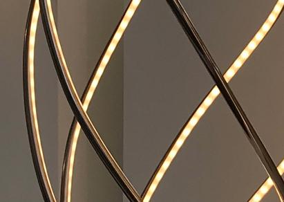 Gold & Grey UK Interior Design Beautiful LED Lighting Design
