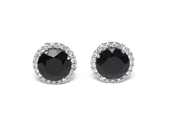 Black Diamond Earrings Men S Black Diamond Stud Earrings