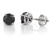 black diamond earrings men