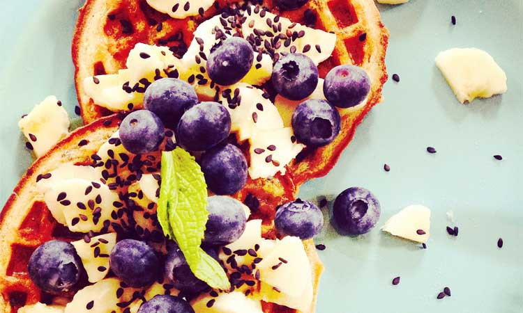 Chia & Flax Seed Waffles {Vegan}