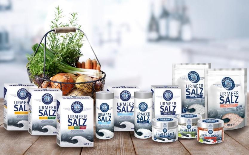 Das Sortiment von SALDORO Urmeersalz (2015)