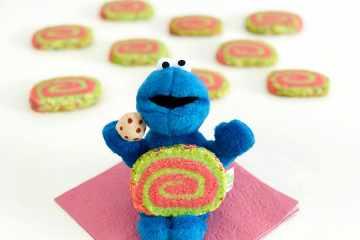 Krümelmonster mit Swirl Cookie