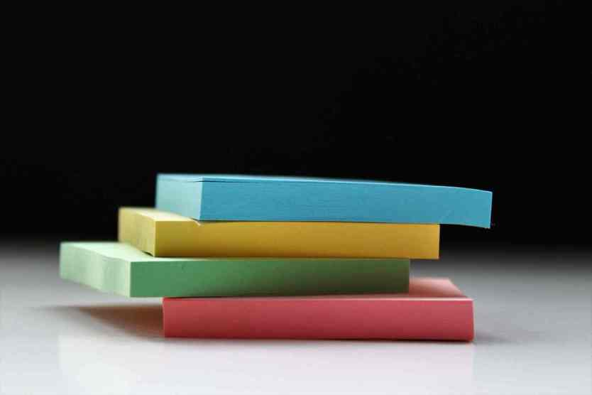 Stapel Post-its