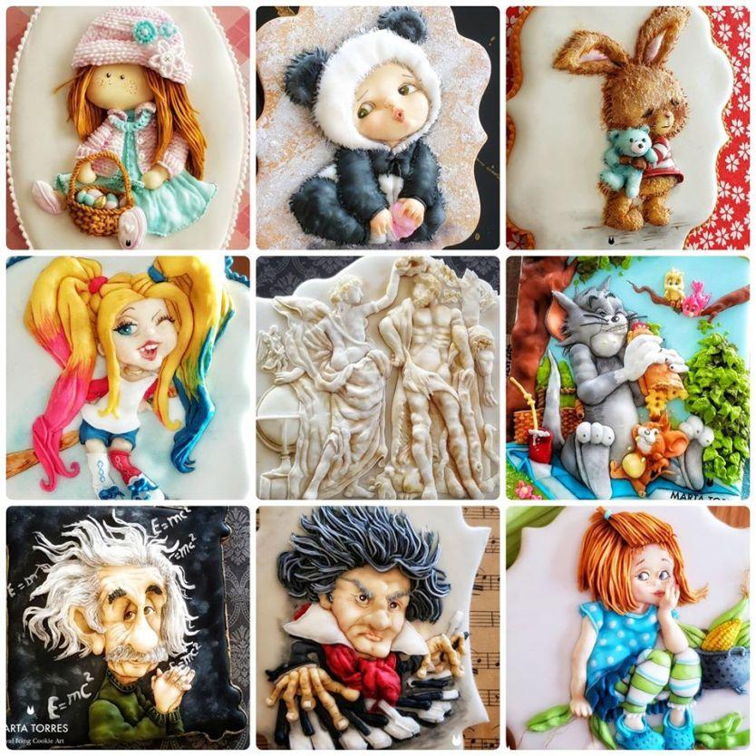 Dekorierte Kekse von Marta Torres