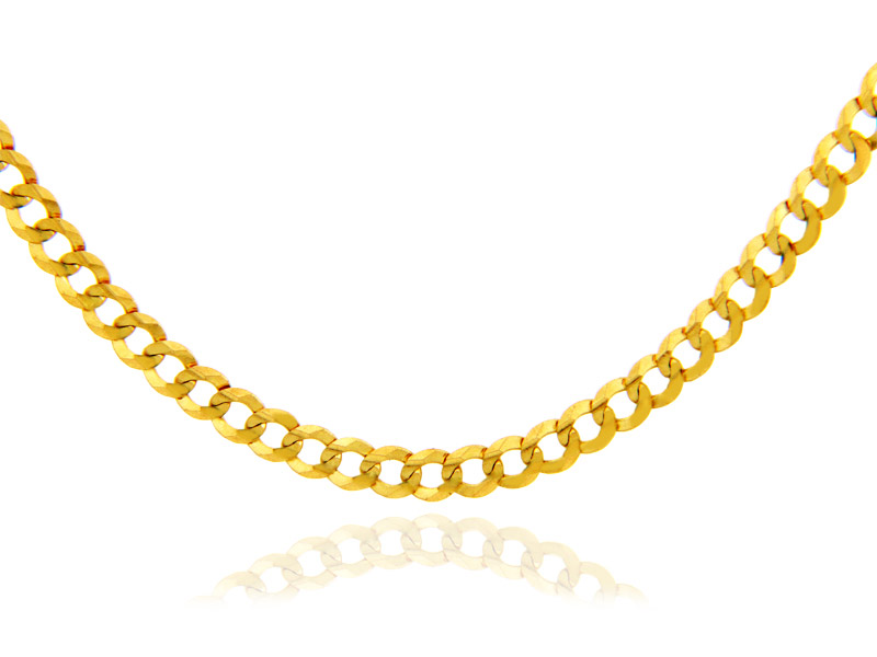 3.69mm Cuban Chain in 9ct Gold