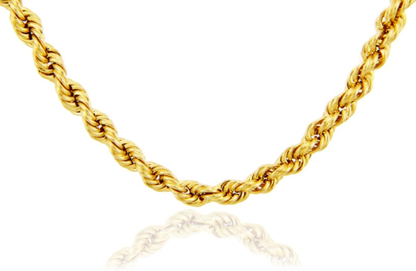 4mm Rope Chain in 9ct Gold