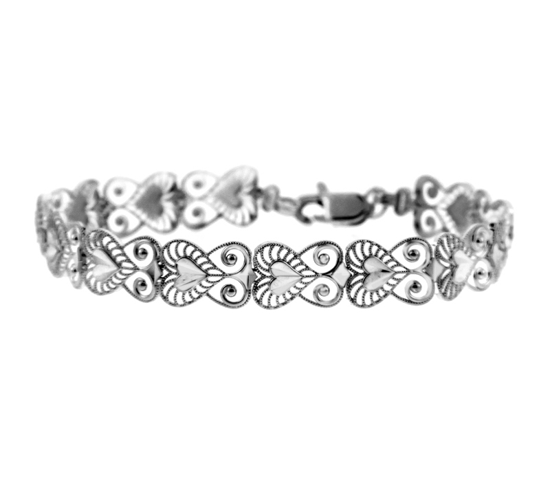 Bracelet in 9ct White Gold