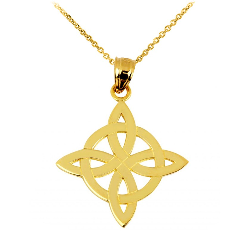 Irish Trinity Pendant Necklace in 9ct Gold