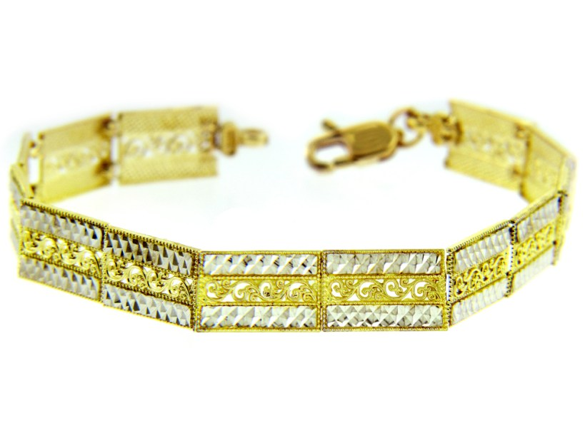Link Bracelet in 9ct Two-Tone Gold