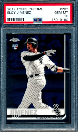 Eloy Jimenez Topps Chrome rookie card