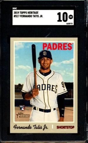 Fernando Tatis Jr. Topps Heritagerookie card