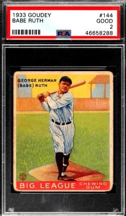 Goudey Babe Ruth