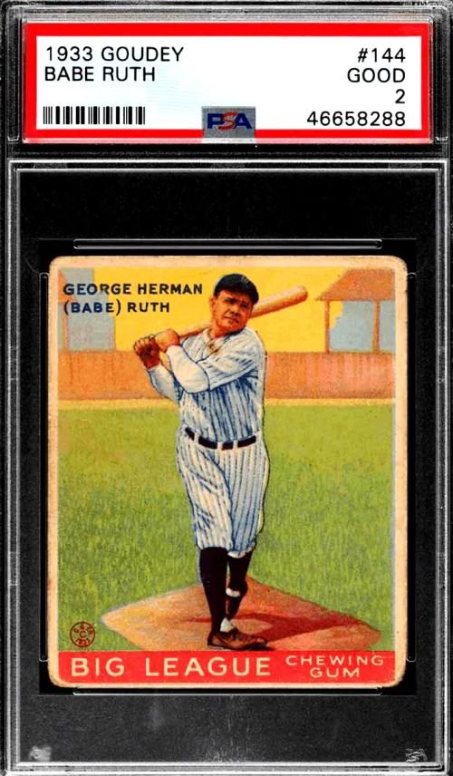 Best Goudey Baseball Cards