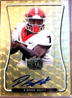 D'andre Swift Leaf rookie card