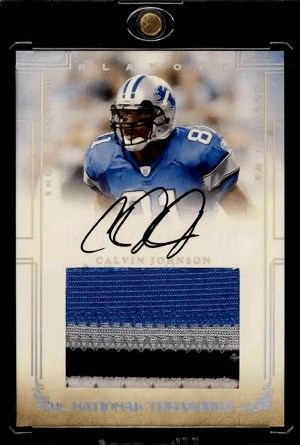 Calvin Johnson Playoff National Treasures rookie
