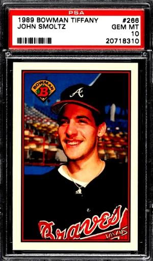 John Smoltz Rookie Card Bowman Tiffany