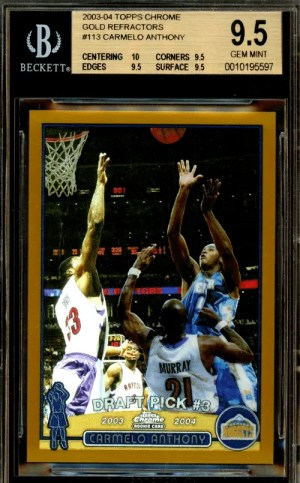Carmelo Anthony Topps Chrome rookie card