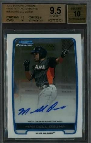 2012 Marcell Ozuna Bowman Chrome Prospect Autographs