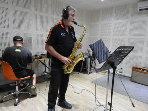 Gold Coast Hasher Kwakka blasting out a tune