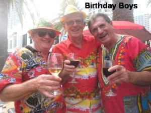 Birthday Boys enjoying a Wine or Two