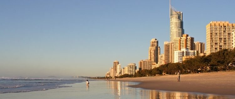 Early Morning on the Beach at Surfers Paradise