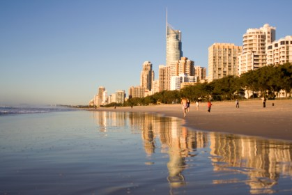 Surfers Paradise beach, early morning