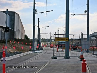 Gold Coast Light Rail between Queens St and Griffith Uni
